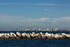 Long Beach City Scape Stock Photos
