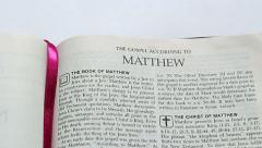 The Gospel According To Matthew - stock footage