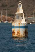 Old Rusty Mooring Buoy - stock photo
