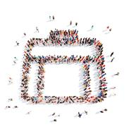 people in the form of a portfolio - stock illustration
