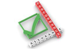 Buzzwords performance assurance Stock Photos