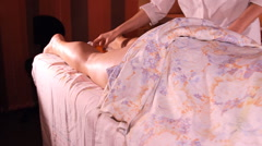 Stock Video Footage of anti-cellulite leg massage oranges
