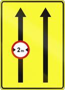 Narrow Left Lane In Poland Stock Illustration
