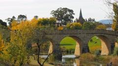 Richmond bridge in autumn Stock Footage