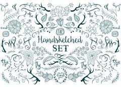 Hand drawn vector elements Stock Illustration