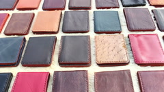 Stock Video Footage of wallet handmade of leather style