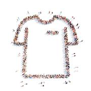 Stock Illustration of people in the form of shirt