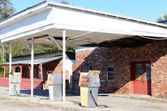 Abandoned gas station Stock Photos