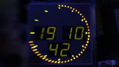 E-the clock is ticking. Time, numbers, dial - stock footage
