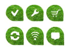 Stock Illustration of Set green icons for web design