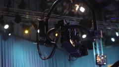 The camera on the crane. Live broadcast, media Stock Footage