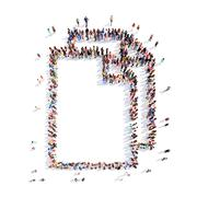 people in the form of a folder - stock illustration