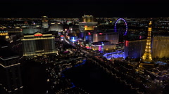 4K Overview Las Vegas Night Lights Time Lapse ED Stock Footage