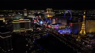 Stock Video Footage of 4K Overview Las Vegas Night Lights Time Lapse ED
