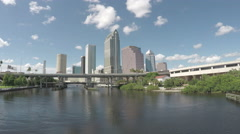 Tampa Skyline 4K Stock Footage