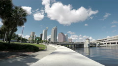 Downtown Tampa and Platt St. Bridge Stock Footage