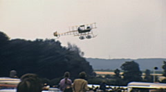 Biggleswade 1970s:  vintage aircraft taking off at the airshow Stock Footage