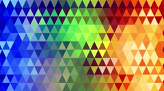 rainbow spectrum triangles geometric loopable background 4k (4096x2304) - stock footage
