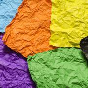 Colour crumpled paper texture Kuvituskuvat
