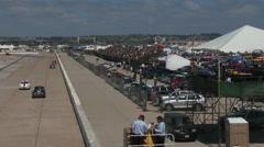 Fans watch race Stock Footage