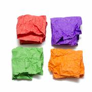 color crumpled paper - stock photo