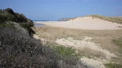 Penhale Sands Holywell Bay Cornwall near Newquay uk Stock Footage