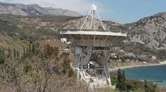 Telescope Observatory. Highlands. Stock Footage