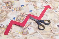 Stock Photo of Stop increasing euro value