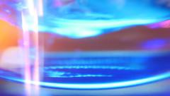 Glass of clean drinking water. Closeup. Shallow depth of field Stock Footage