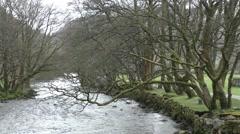 River (Afon) Glaslyn Beddgelert, Wales Stock Footage