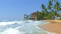 Beach in Hikkaduwa - Sri Lanka Stock Footage