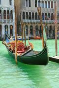 Gondola on Canale Grande in Venice Stock Photos