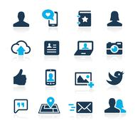 Stock Illustration of Social Icons // Azure Series