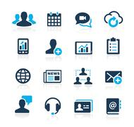 Business Technology Icons // Azure Series Stock Illustration