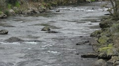 River flow downstream Stock Footage