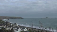 Seaview over Abersoch, Wales Stock Footage