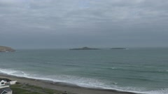 Seaview from Welsh Coast Stock Footage