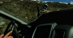 Snowy Mountains Driving View 4k Stock Footage