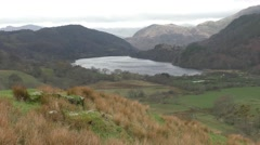 View into valley - Snowdonia Wales. Stock Footage