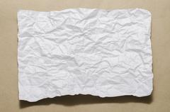 A4 size white crumpled paper Stock Photos