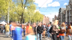 Kings Day Koningsdag timelapse Stock Footage
