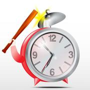 Alarm clock.Red.Vector Piirros