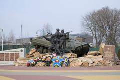 Monument to participants of local wars and military conflicts Stock Photos
