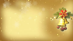 jingle bell with snowflake drop down - stock footage