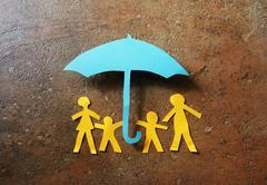 Paper family - stock illustration