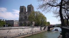 Notre Dame at Ile de la Cite. Paris, France - stock footage