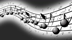 Animated background with musical notes - Seamless LOOP - stock footage