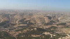 Aerial Israeli Desert Hillsides, ISRAEL Stock Footage