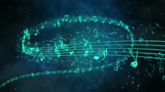 Animated background with musical notes - Seamless LOOP Stock Footage