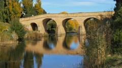 Richmond bridge reflections Stock Footage
